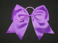 "NEW ""PURPLE"" Cheer Bow Pony Tail 3 Inch Ribbon Girls Hair Bows Cheerleading"