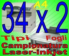 STOCK SERIE FOGLI CAMPIONI CARTA X STAMPANTE INKJET A4