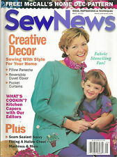 Sew News May 1999 Pocket Curtains/Reversible Duvet/Seam Sealant/Hollow Chest