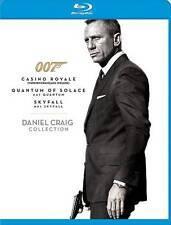 The Daniel Craig Collection (Blu-ray, 2013, 3-Disc set) Casino/Quantum/Skyfall