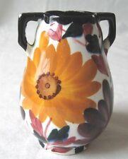 "Schramberg Vase Made in Germany Ceramic Mini 4"" Floral Sunflower"