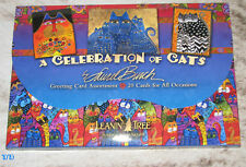Leanin Tree Laurel Burch ~ Celebration of Cats ~ 20 Card Assortment #90730