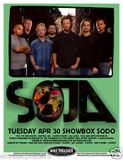 SOJA 2013 SEATTLE CONCERT TOUR POSTER - Reggae Music