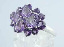 Amethyst Cocktail Sterling Silver Ring : Size 8, Video on page for better view!!