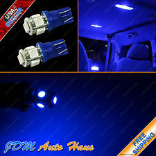 2x Ultra Blue Interior DOME MAP Reading 12V LED T10 Wedge Light Bulb 168 194 921