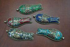 Fish Gold Plated Pendant #T-856A 5 Pcs Assort Handmade Tibet