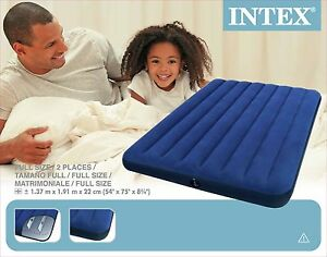 Genuine INTEX  Double Inflatable Camping Quality Air Mattress Bed Downy Classic