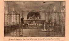TOURCOING CHAPELLE REPARATRICE SACRE COEUR DE JESUS IMAGE 1933 PLANE OLD PRINT