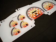 97 98 Ford F150 F250 Expedition White Face Glow Through Gauges For Cluster Flame