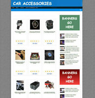 CAR ACCESSORIES WEBSITE UK AFFILIATE-FREE DOMAIN & HOSTING - FULLY STOCKED