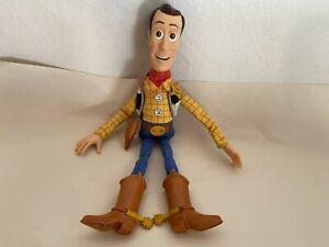 Disney Pixar Toy Story Pull String Woody Talking Doll  No Hat  WORKS!!