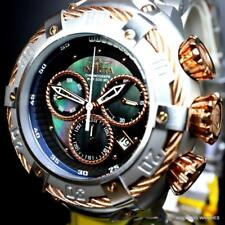 Invicta Thunderbolt Stainless Steel Steel Rose Two Tone MOP Black 52mm Watch New