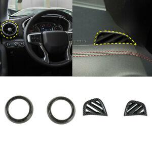 4PCS Front Dashboard Air Outlet Vent Cover Trim For Chevrolet Blazer 2019-2021