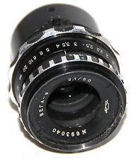VEGA-9 2.1/50mm lens for 16mm movie camera Krasnogorsk-1, -2, -3  #693040
