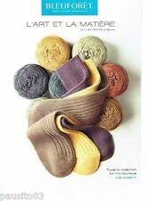 PUBLICITE ADVERTISING 126  2005  Bleuforet  laine & chaussettes en cachemire