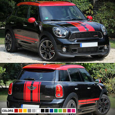 Decal Sticker Hood Side Trunk Stripe Kit For Mini Countryman Cooper Door Handle