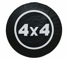 """15"""" SPARE TIRE COVER 4X4 BLACK HEAVY DUTY VINYL TIRE COVER"""