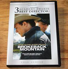 BROKEBACK MOUNTAIN  (DVD, 2006, Full Frame) HEATH LEDGER ~ JAKE GYLLENHAAL