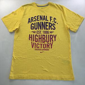Men's Nike Arsenal FC Gunners London England Soccer Tee Shirt X Large NEW Rare