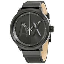 50% OFF ! ARMANI EXCHANGE Men's ATLC Leather Strap Watch, 49mm