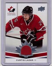 CURTIS LAZAR 14/15 Upper Deck Team Canada Juniors Rookie Jersey #156 Senators