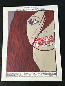 Rare Malleus Kings of Leon Poster SF Warfield 2008 fancy signed numbered Sperry