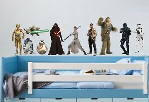 STAR WARS CHARACTERS COLLECTION - Wall Art Stickers, 10 x figures in 3 x sizes
