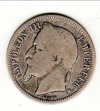 RARISSIME GRAND BB  NAPOLEON III 1 FRANCS ARGENT 1868 BB tres difficile trouvé