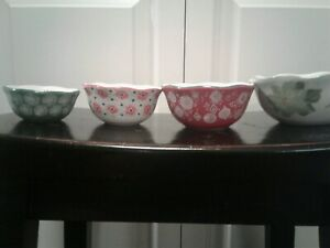 The Pioneer Woman Set Of 4 Ceramic Measuring Cups 1/4 1/3 1/2 1 Cup New WO Tags