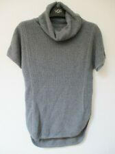 UGG SELBY Cowl Neck Short Sleeve Sweater Sm Charcoal Heather Grey NWOT $108 MSRP