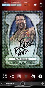 Topps Slam DIGITAL Iconic RAZOR RAMON Bowman Superfractor Sterling Signature