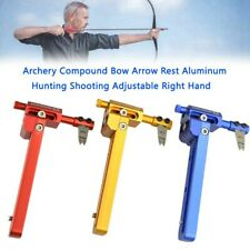 New listing Archery Compound Bow Arrow Rest Aluminum  Shooting Adjustable Right Hand YU