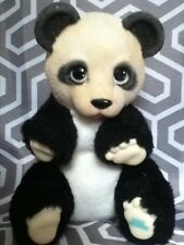 VINTAGE 1994 ED KAPLAN ZOO BORNS BABY PANDA BLACK WHITE STUFFED ANIMAL PLUSH TOY