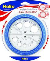 Helix Angle And Circle Maker 360° - 2 in 1 Protractor and Compass