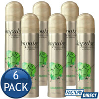 6 x IMPULSE BODY SPRAY LADIES MIST PERFUME FRAGRANCE ILLUSIONS SCENT 57g/75mL