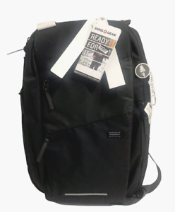 "SwissGear 19"" Hybrid Black Messenger Bag w/ Integrated USB"