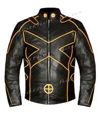 Wolverine X MEN GIORNI DI UN FUTURO Moto Biker Bomber Giacca in Vera Pelle 551B-L