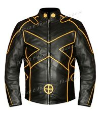 Wolverine X Men Days of Future Motorbike Biker Bomber Real Leather Jacket 551B-L