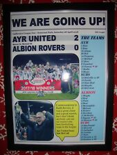 Ayr United 2 Albion Rovers 0 - 2018 - Ayr United promoted - framed print