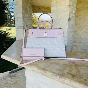 NWT Michael Kors Gramercy LG Leather Satchel Handbag/ wallet options