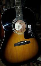 New!Epiphone AJ -100 Acoustic Guitar, Vintage Sunburst