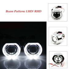 LED Angel Eye HID H1 Xenon Bulb Projector Lens Headlight Red Devil Demon Eye