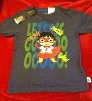 Ryan's World Boy's Graphic Tee Shirt Size 5/6 Let's Go 3-D includes glasses