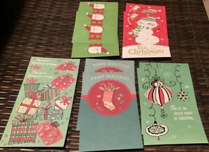 Christmas Cards 10 Pack Money/Giftcard Card Holder W/Envelopes Holidays 5 Themes