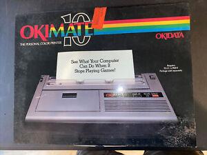 Commodore Okimate 10 Personal Color Printer Okidata W/ Plug 'n Print - UNTESTED.