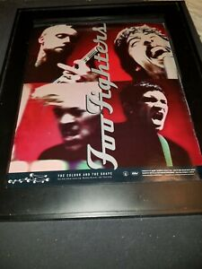 Foo Fighters The Colour And The Shape Rare Original Promo Poster Ad Framed!