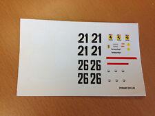 DECAL DECALCOMANIE 1/32 FERRARI 250LM LE MANS #21 #26 PROTO SLOT KIT