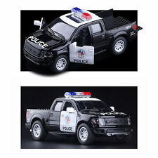 1:46 Ford F-150 SVT Raptor Supercrew Police Pickup Model Diecast Truck Car Toy