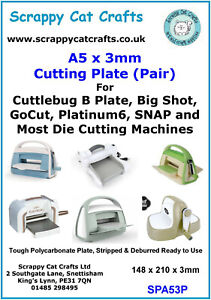 Cuttlebug Cutting Plate B  Replacement Pair of Plates by Scrappy Cat : SPA53P  6