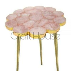 Agate Table Top, Agate Table, Stone Coffee Table,Pink Agate End Table,Pink Stone